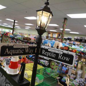 Aquatic Way and Reptile Row at Friendly Pets, Exeter